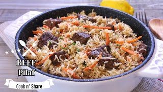 Simple and Easy Beef Pilaf (Plov) - Delicious