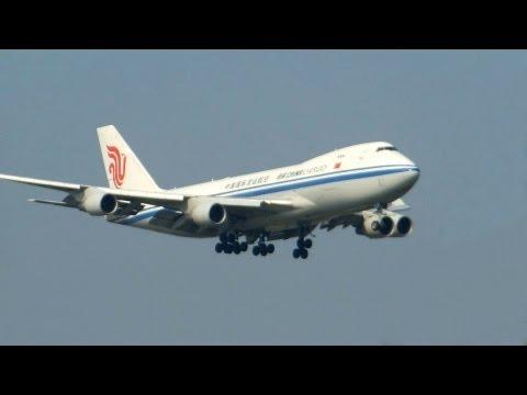 Air China Cargo ► Boeing 747-400 ► Landing ✈ Amsterdam Airport Schiphol
