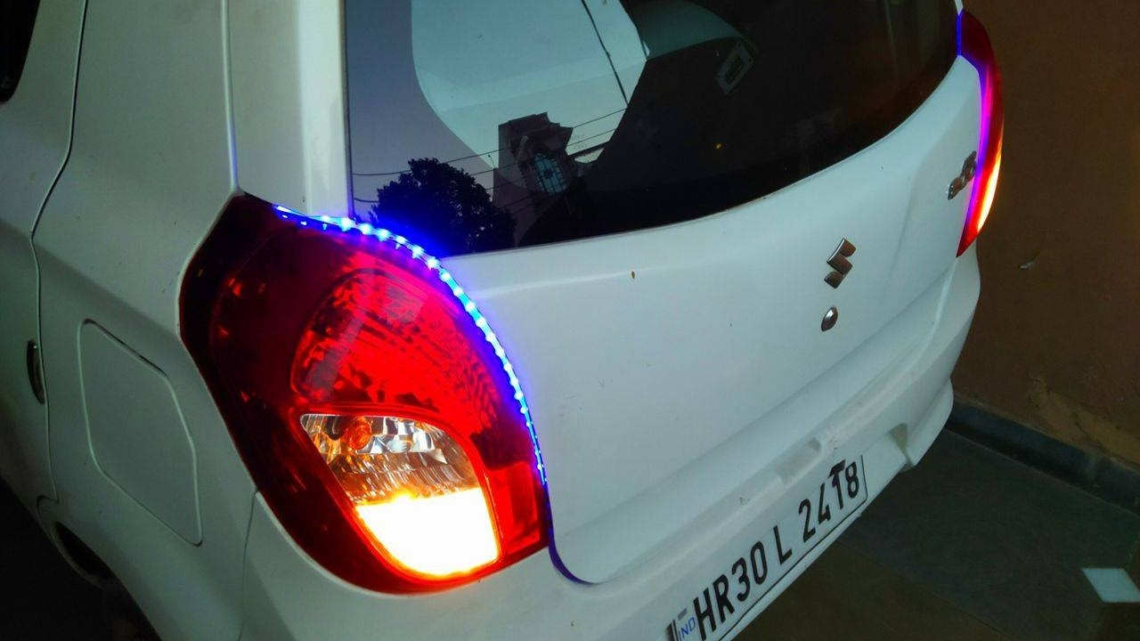 how to install led strips lights in car alto 800 with reverse light in hindi cool car mods [ 1280 x 720 Pixel ]