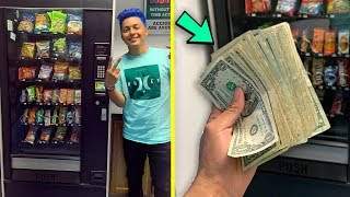 I Pulled CASH From CLAW KICKERS Vending Machines !!
