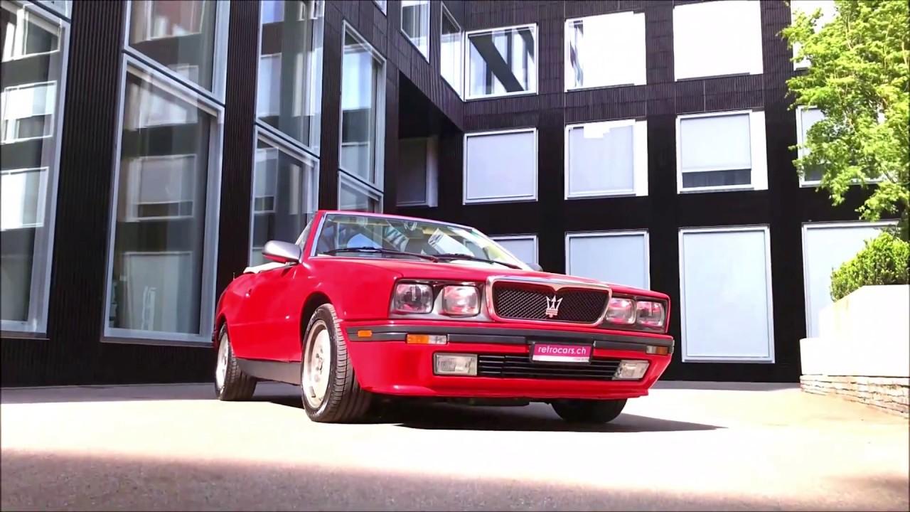 retrocars.ch Maserati Spyder Biturbo 2.8 - YouTube