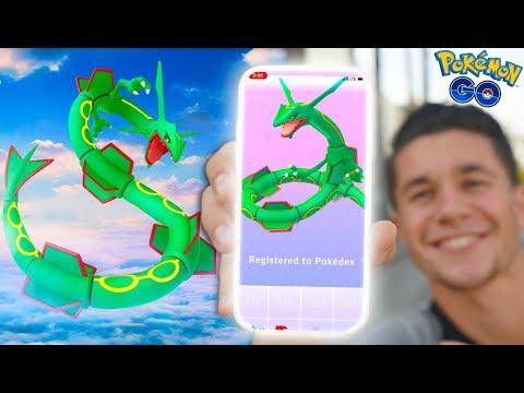 CATCHING *RAYQUAZA* in Pokémon Go! NEW UPDATE & NEW POKÉMON!