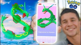 CATCHING *RAYQUAZA* in Pokémon Go! NEW UPDATE & NEW POKÉMON!