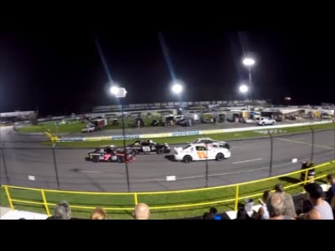 Carteret  County Speedway Mini Stock Cars Last Lap Wreck & Retaliation! -Swansboro, NC.-July 5, 2017