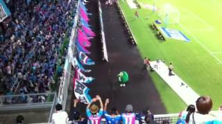 20120901 サガン鳥栖vsガンバ大阪 試合終了後 選手挨拶あとについてきて...