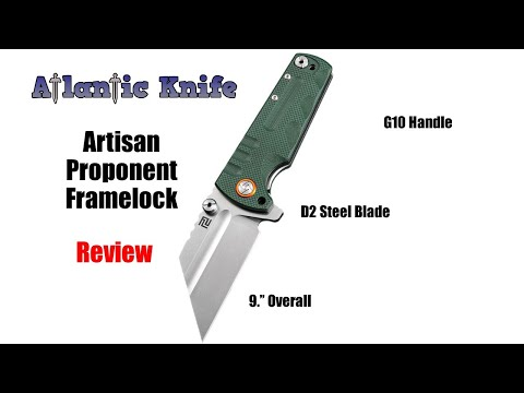 Artisan Proponent Linerlock Folding Knife Review | Atlantic Knife Reviews 2019