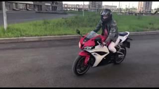 Обучение на мотоцикле. Honda cbr600 rr