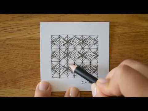 Zentangle® Pattern: C-Wing