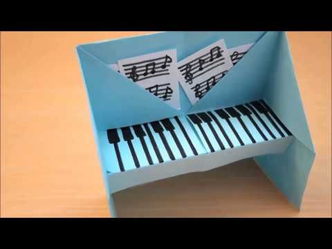 How to Make Easy Paper Piano For Kid