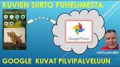 Valokuvien kopiointi nopeasti puhelimesta pilvipalveluun - Google Kuvat