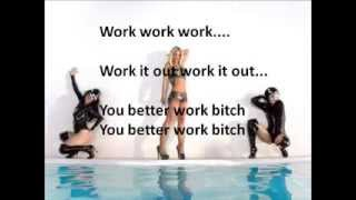 Britney Spears - Work B**ch (lyrics)