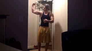17 Year Old Bodybuilder Flex Update