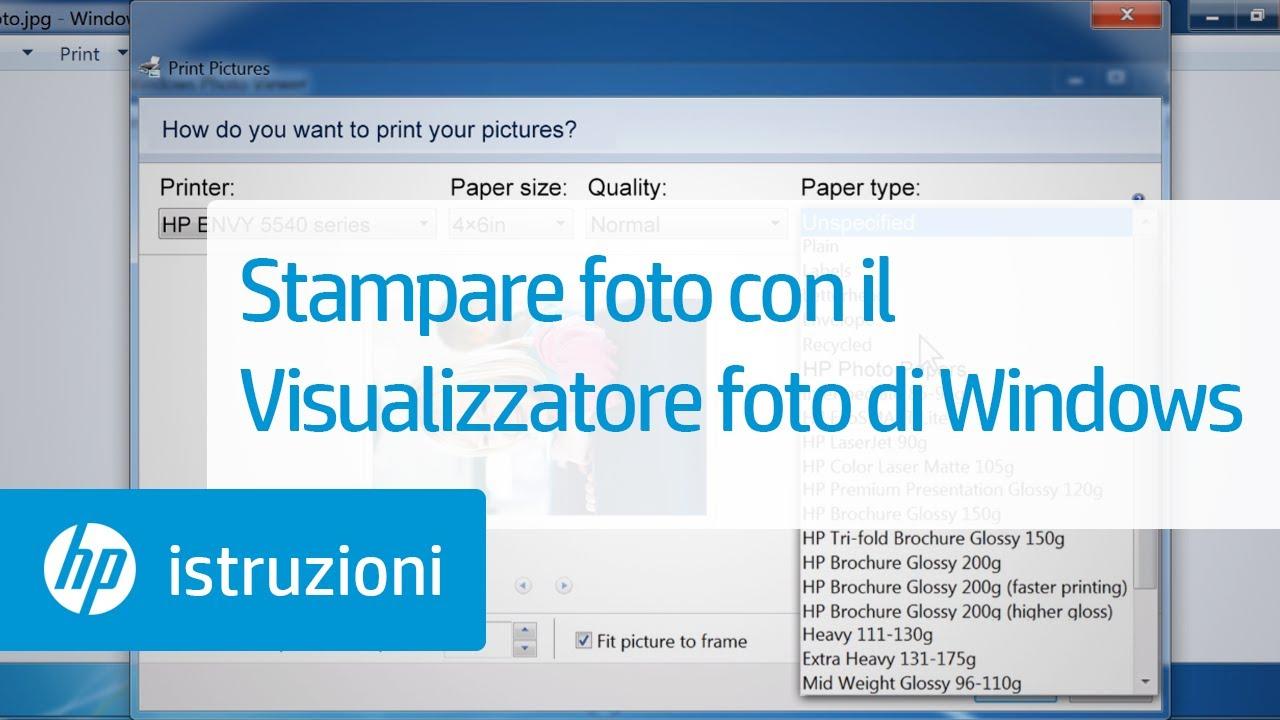 Stampare Foto Con Il Visualizzatore Foto Di Windows
