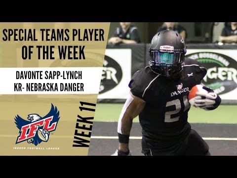 IFL Week 11 Special Teams Player of the Week: Davonte Sapp- Lynch