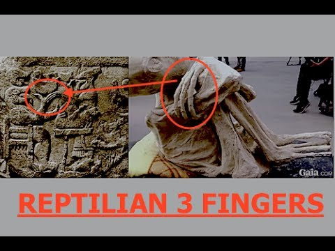 Alien Mummy from Peru with Three Fingers, Identical to Ancient Sumerian Tablet, Giant Reptilians