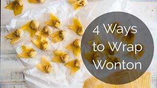 4 Ways to Wrap Wonton