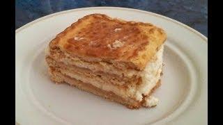 Торт без выпечки. Видео рецепт.