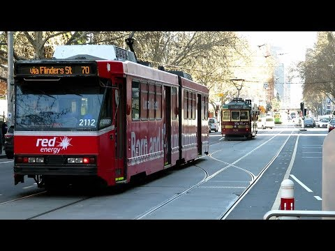Trams At Flinders & Elizabeth St - Melbourne Tramspotting City Circle & Routes 70 And 75