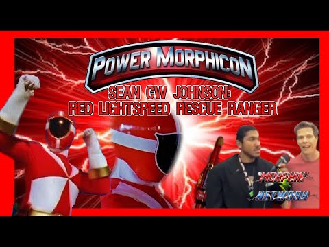 Sean Cw Johnson Red Lightspeed Ranger  at Power Morphicon 2018