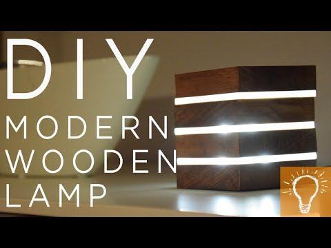 DIY Modern Wooden LED Lamp