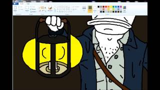 Hello Darkness, my old friend - drawing in MS Paint timelapse