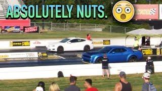 Tesla P100d Drags Down Dodge Demon!