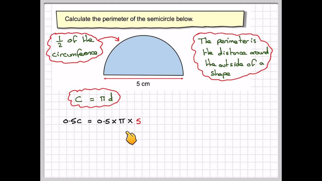 Finding the perimeter of a semicircle youtube finding the perimeter of a semicircle ccuart Image collections