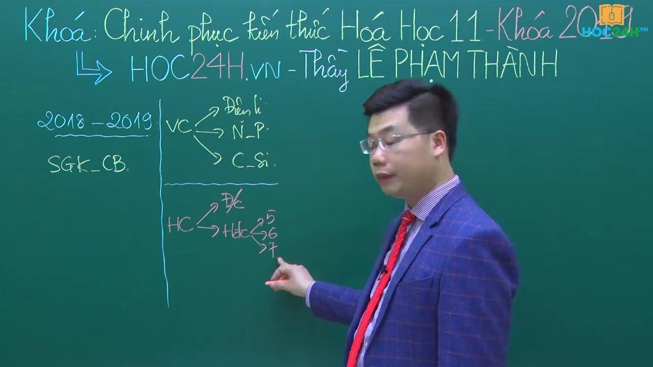 Chinh phục kiến thức Hóa học Lớp 11 2019