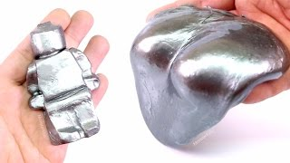 DIY STEEL SLIME ! How To Make Super Gloss Metal Slime - MonsterKids