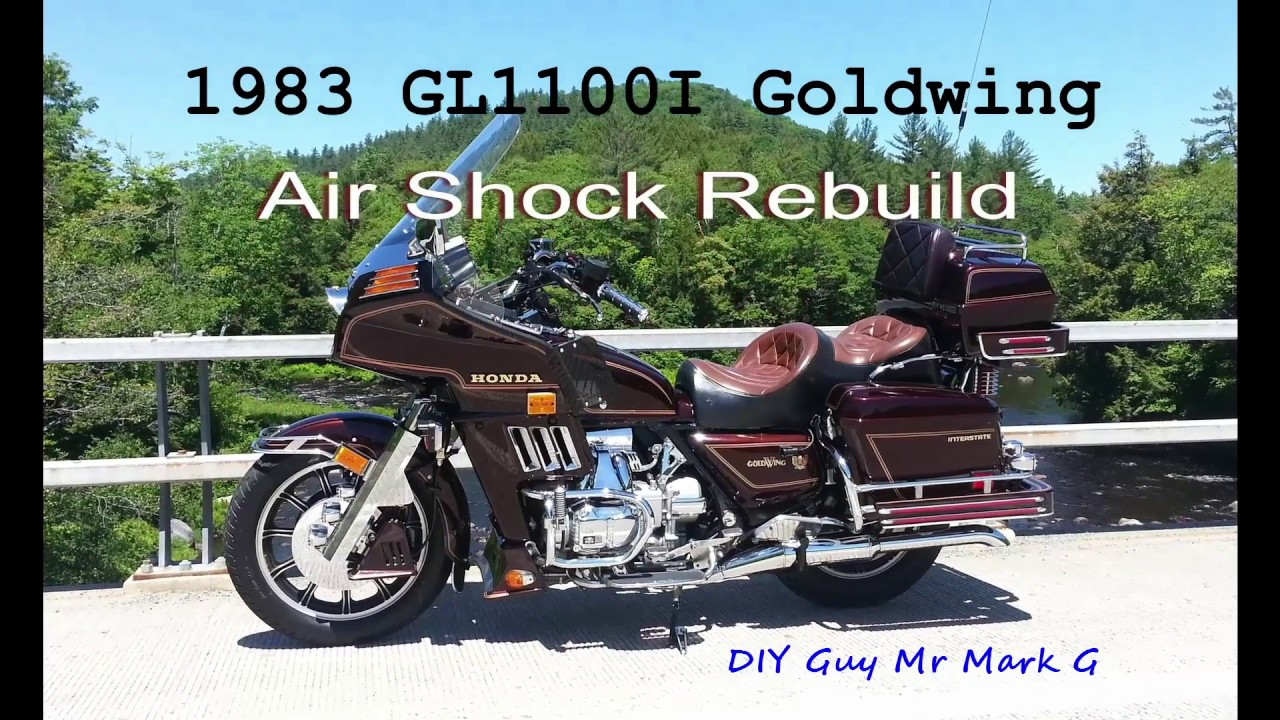 small resolution of 1983 honda goldwing gl1100i rear air shock rebuild