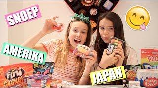 GEK SNOEP PROEVEN UIT AMERIKA EN JAPAN  EN GRAPPIGE ITEMS UITPROBEREN!