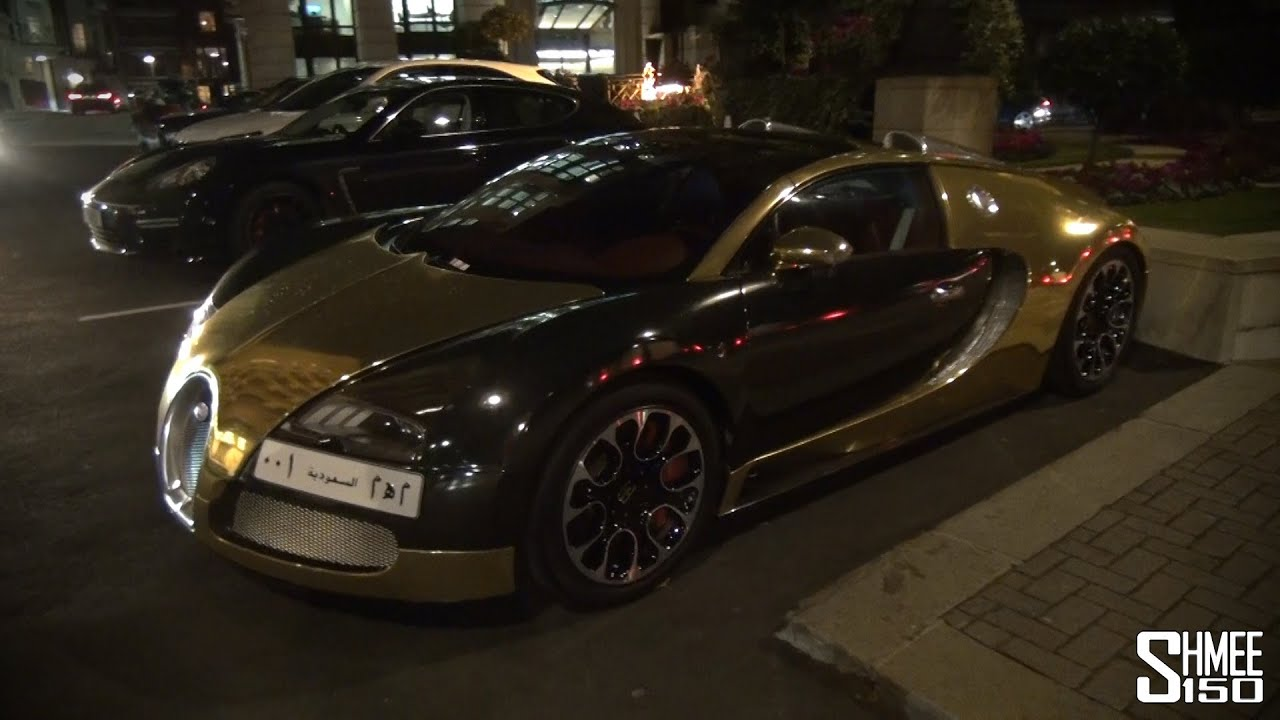 GOLD Chrome Bugatti Veyron Grand Sport - In London for Eid ...