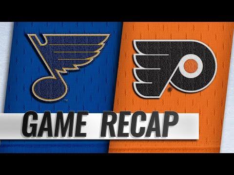 Binnington shuts out Flyers in 3-0 win