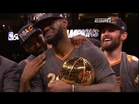 LeBron James in Tears After NBA Finals Victory