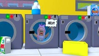 ROBLOX Escape The Evil Laundromat Obby | Kunicorn Plays Roblox