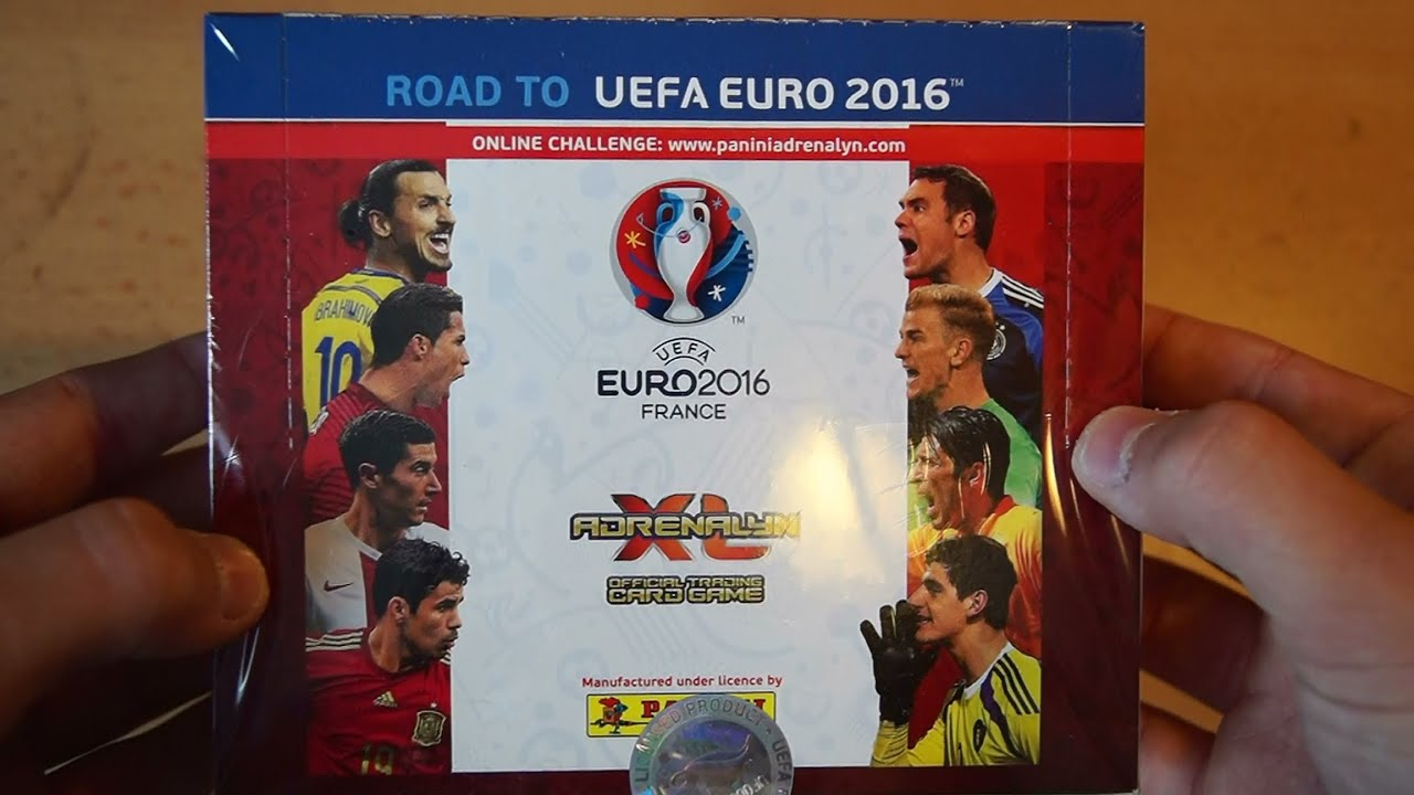display booster box panini adrenalyn xl road to uefa euro 2016 unboxing em 2016 youtube. Black Bedroom Furniture Sets. Home Design Ideas