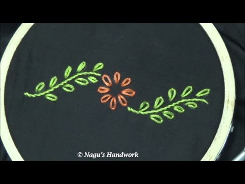 Lazy Daisy Stitch Detached Chain Stitch Hand Embroidery Tutorials
