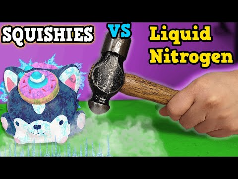 SQUISHIES, SLIME & CRAFT SUPPLIES in LIQUID NITROGEN squishy unmakeovers #4 oddly satisfying
