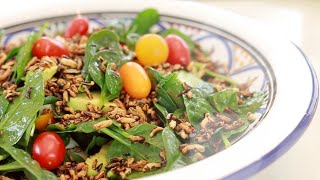 Crunchy Wild Rice Salad With Lime Zest :: Great Texture And Presentation!