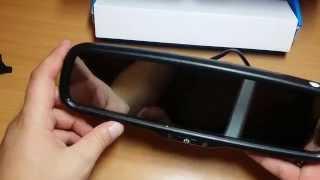 видео Зеркало с монитором и камерой заднего вида