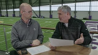 The Voice of the Vikings, Paul Allen, and vikings.com's Mike Wobsch...