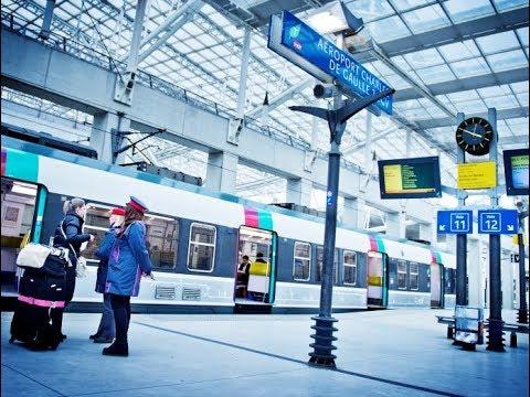 RER B - Paris Charles de Gaulle  to Paris Gare du Nord (Train in Paris)