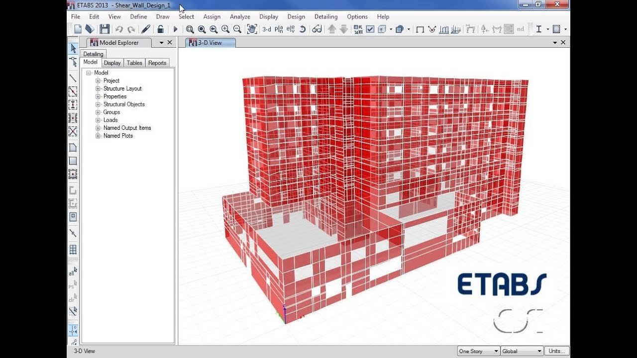ETABS 09 Shear Wall Design and Optimization Watch Learn YouTube