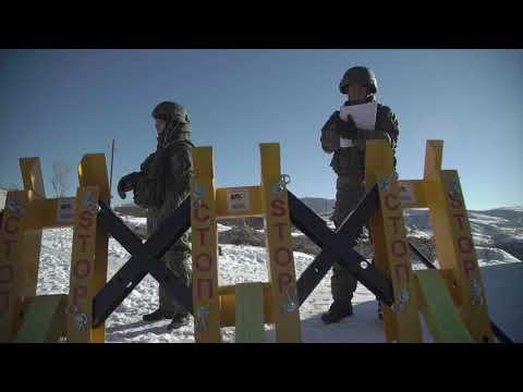 Тренировка российских миротворцев по антитеррору в Нагорном Карабахе