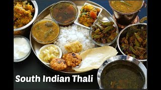 South Indian Thali recipe | Veg South Indian Lunch Menu Ideas | Festival Lunch Ideas