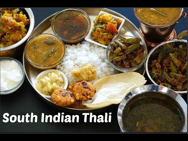 South Indian Thali Recipe Veg South Indian Lunch Menu Ideas Festival Lunch Ideas Youtube
