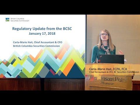 Annual Regulatory and TSX-V Update 2018 | Carla-Marie Hait | BCSC