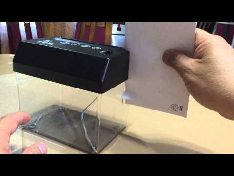 BicycleStore Portable Mini Paper Shredder With Letter Opener USB or AA Batteries - Unboxing