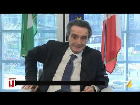 Coronavirus, le ultime notizie con il presidente della regione Lombardia Attilio Fontana