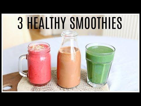 3 HEALTHY SMOOTHIE RECIPES | Niomi Smart